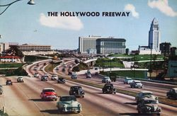 Hollywood Freeway postcard